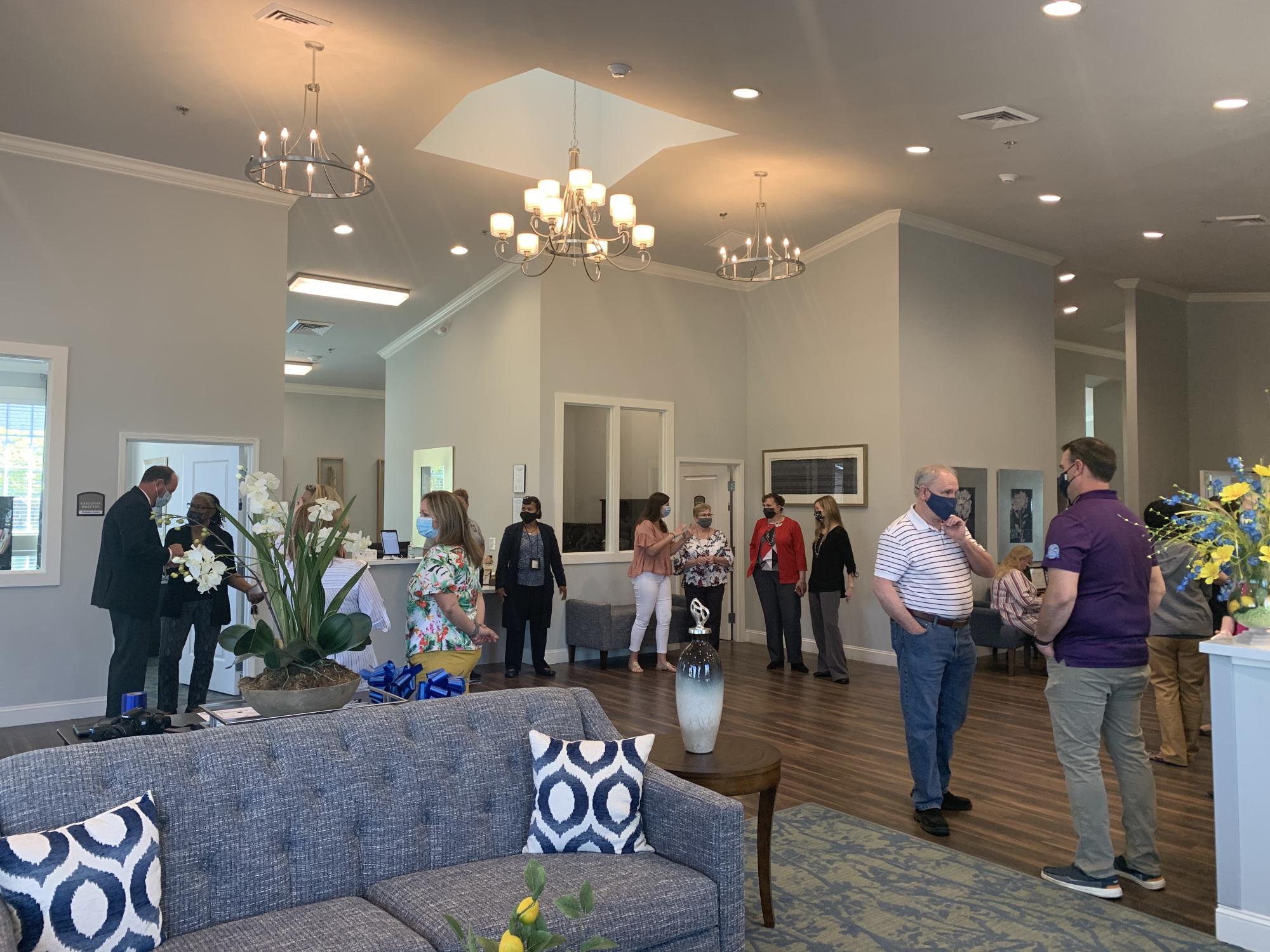 Ribbon Cutting Event, inside building